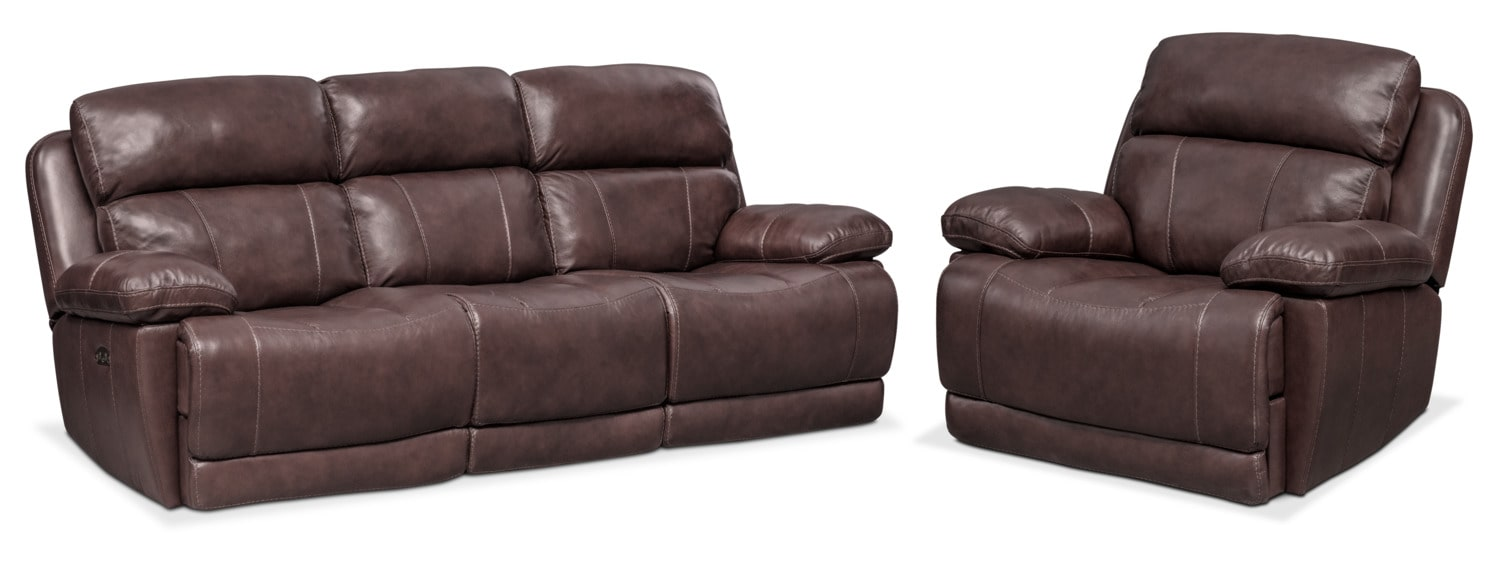 Monte Carlo Dual Reclining Sofa And Recliner Set Chocolate