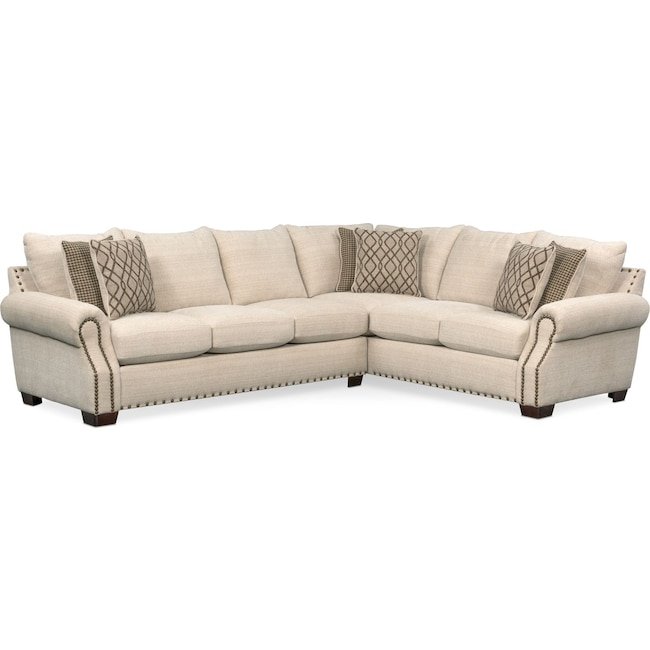Living Room Furniture - Bolton 2-Piece Sectional with Left-Facing Sofa