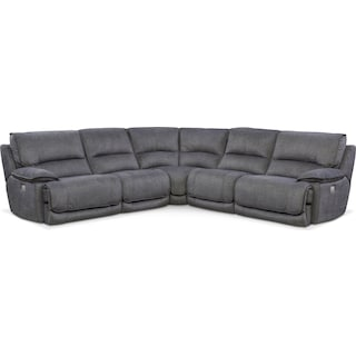 Mario 5-Piece Dual-Power Reclining Sectional with 3 Reclining Seats
