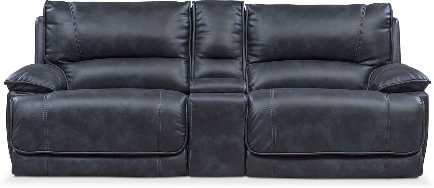 Mario 3 Piece Power Reclining Sofa With Console Value City