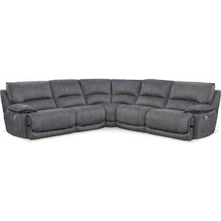 Mario 5-Piece Power Reclining Sectional with 2 Reclining Seats