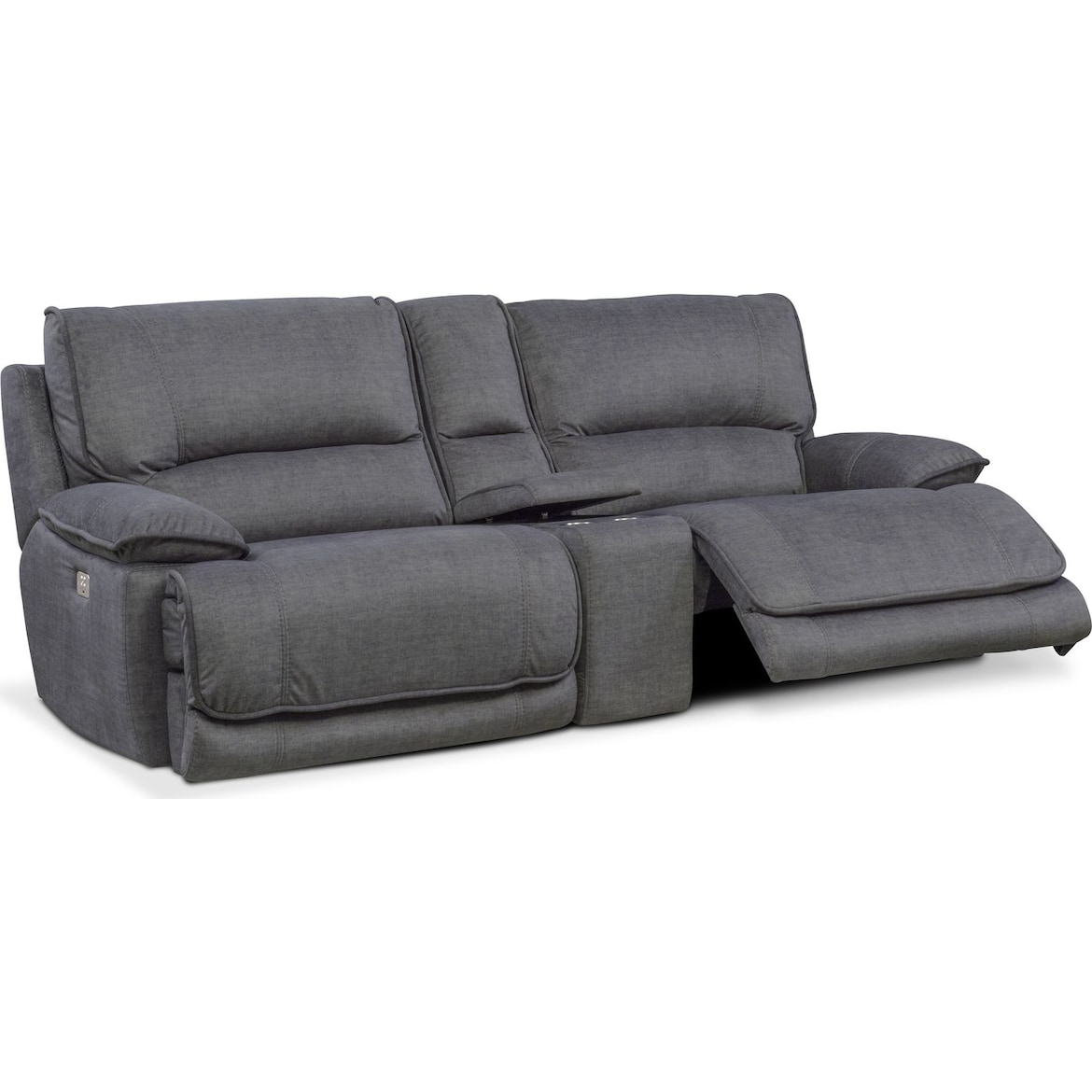 Stupendous Mario 3 Piece Dual Power Reclining Sofa With Console Onthecornerstone Fun Painted Chair Ideas Images Onthecornerstoneorg