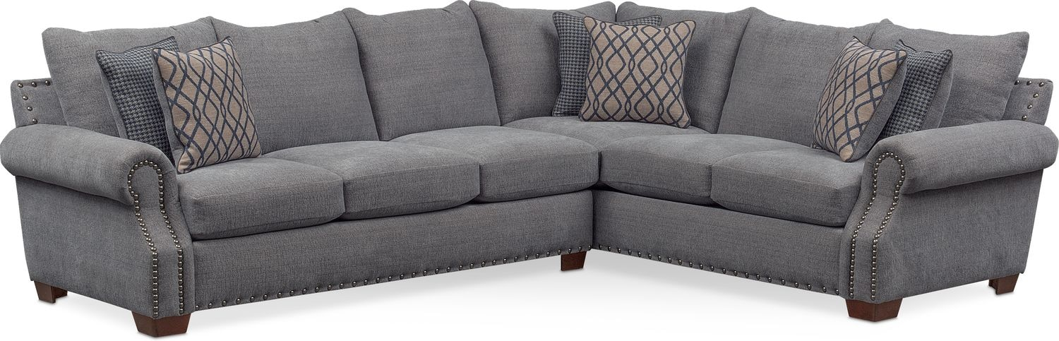 Genial Bolton 2 Piece Sectional With Left Facing Sofa   Gray