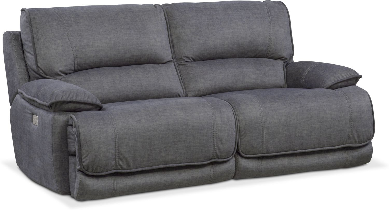 Living Room Furniture - Mario 2-Piece Dual-Power Reclining Sofa
