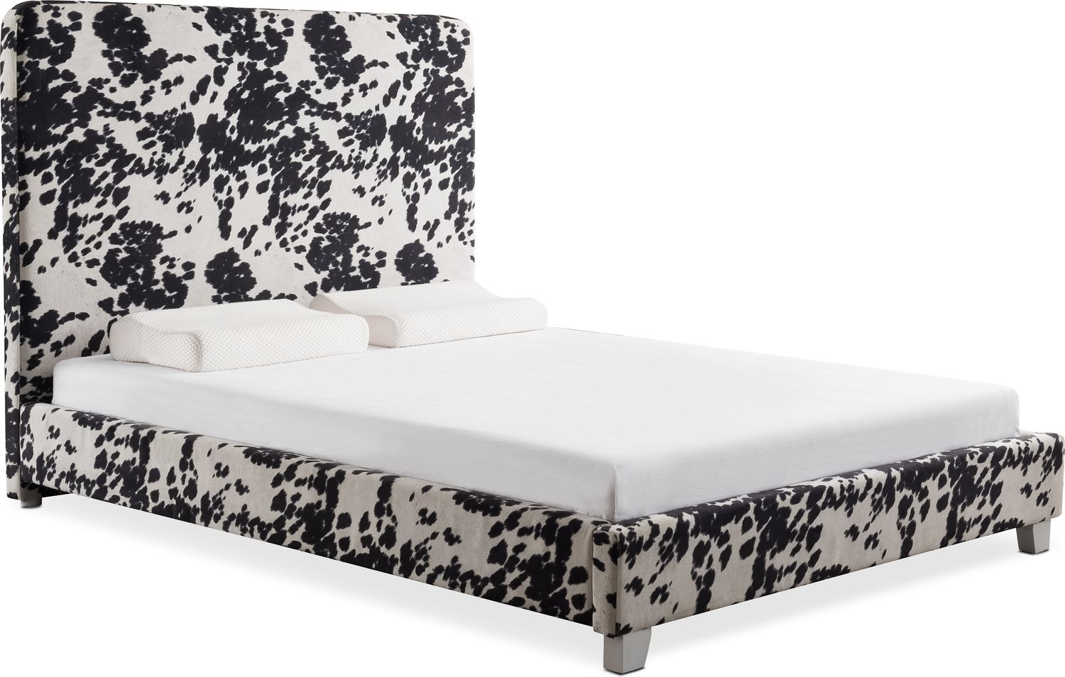 Jungle Queen Upholstered Bed   Black