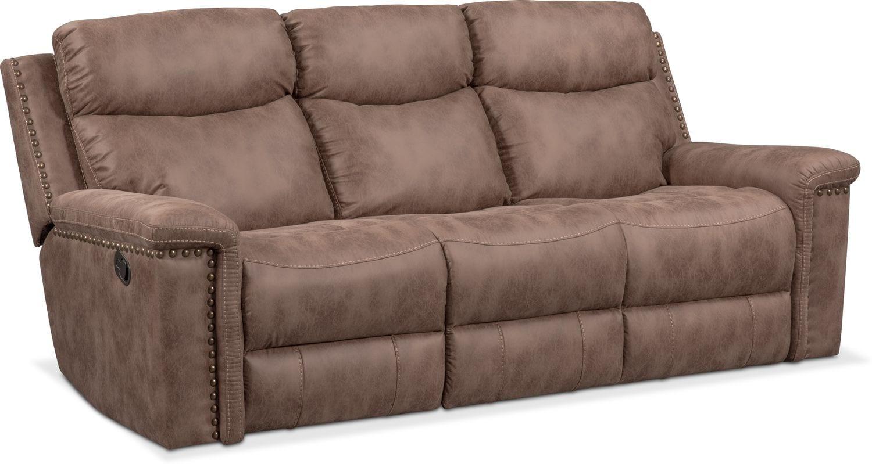 Montana Dual Manual Reclining Sofa Reclining Loveseat And