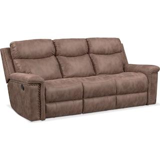 Montana Dual Manual Reclining Sofa - Taupe