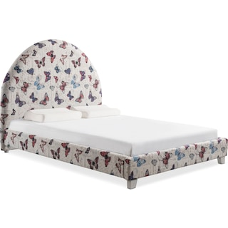 Arte Queen Upholstered Bed - Butterfly
