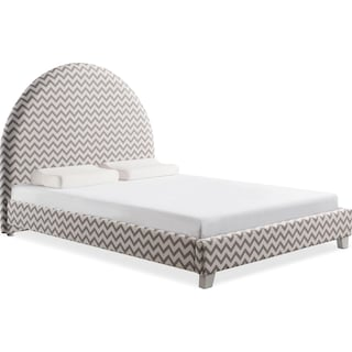 Arte Queen Upholstered Bed - Chevron