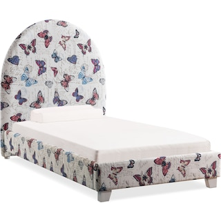 Arte Twin Upholstered Bed - Butterfly