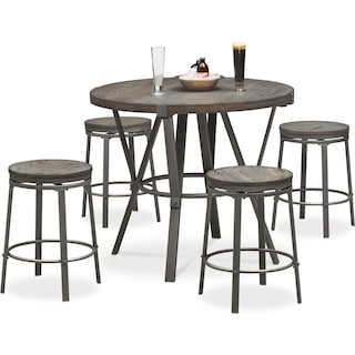 Stratton Counter-Height Table and 4 Stools