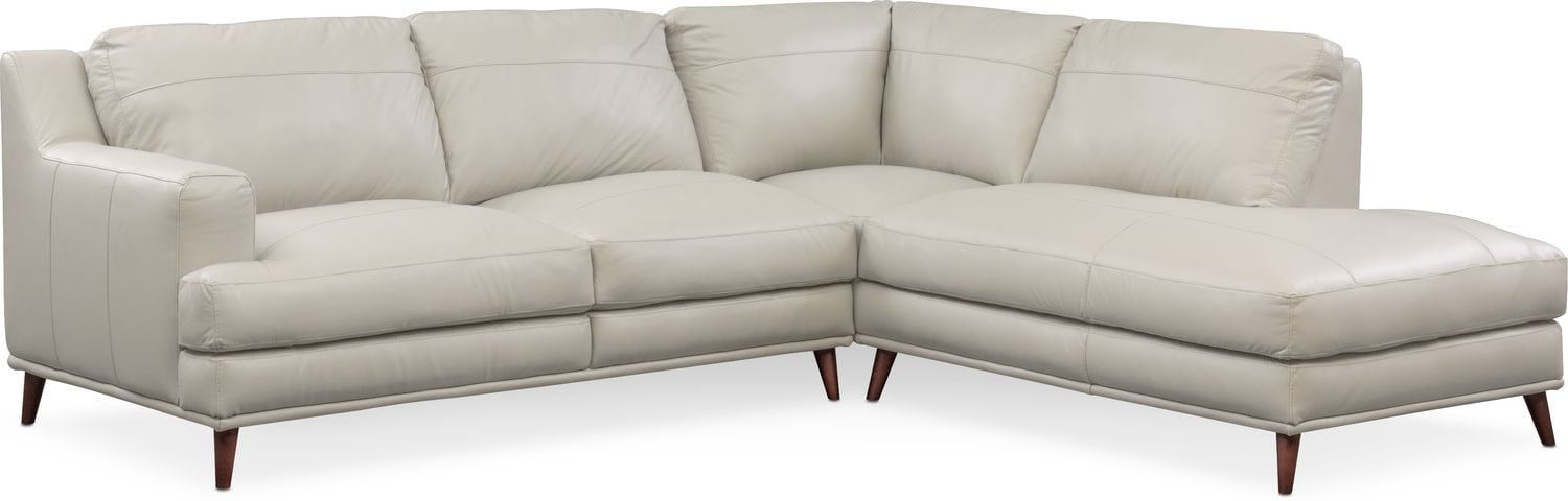 Highline 2-Piece Sectional with Right-Facing Chaise - Light Gray  sc 1 st  Value City Furniture : value city furniture leather sectional - Sectionals, Sofas & Couches
