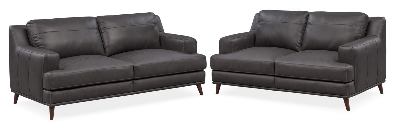 Highline Sofa And Loveseat Set   Dark Gray Part 88
