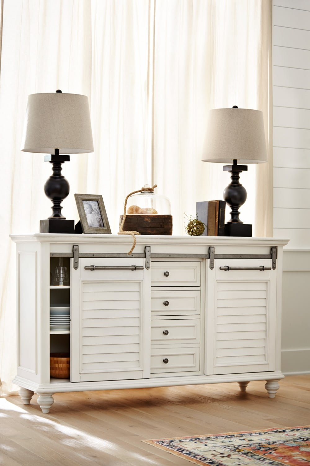 Charleston Buffet White Value City Furniture And