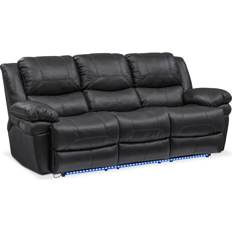 Monza Dual Power Reclining Sofa, Reclining Loveseat and Recliner Set ...