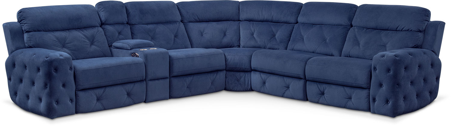 Macklin 4 Piece Dual Power Reclining Sectional With Left Facing