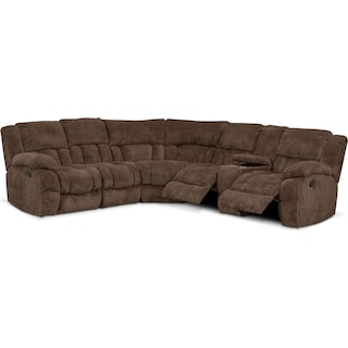 Turbo 6-Piece Manual Reclining Sectional with 3 Reclining Seats