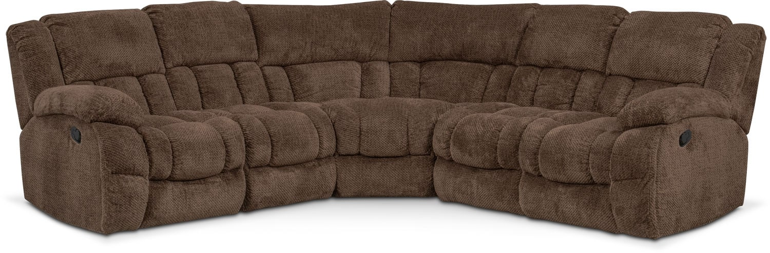 Living Room Furniture - Turbo 5-Piece Reclining Sectional