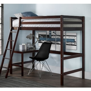 Hudson Twin Loft Bed - Chocolate