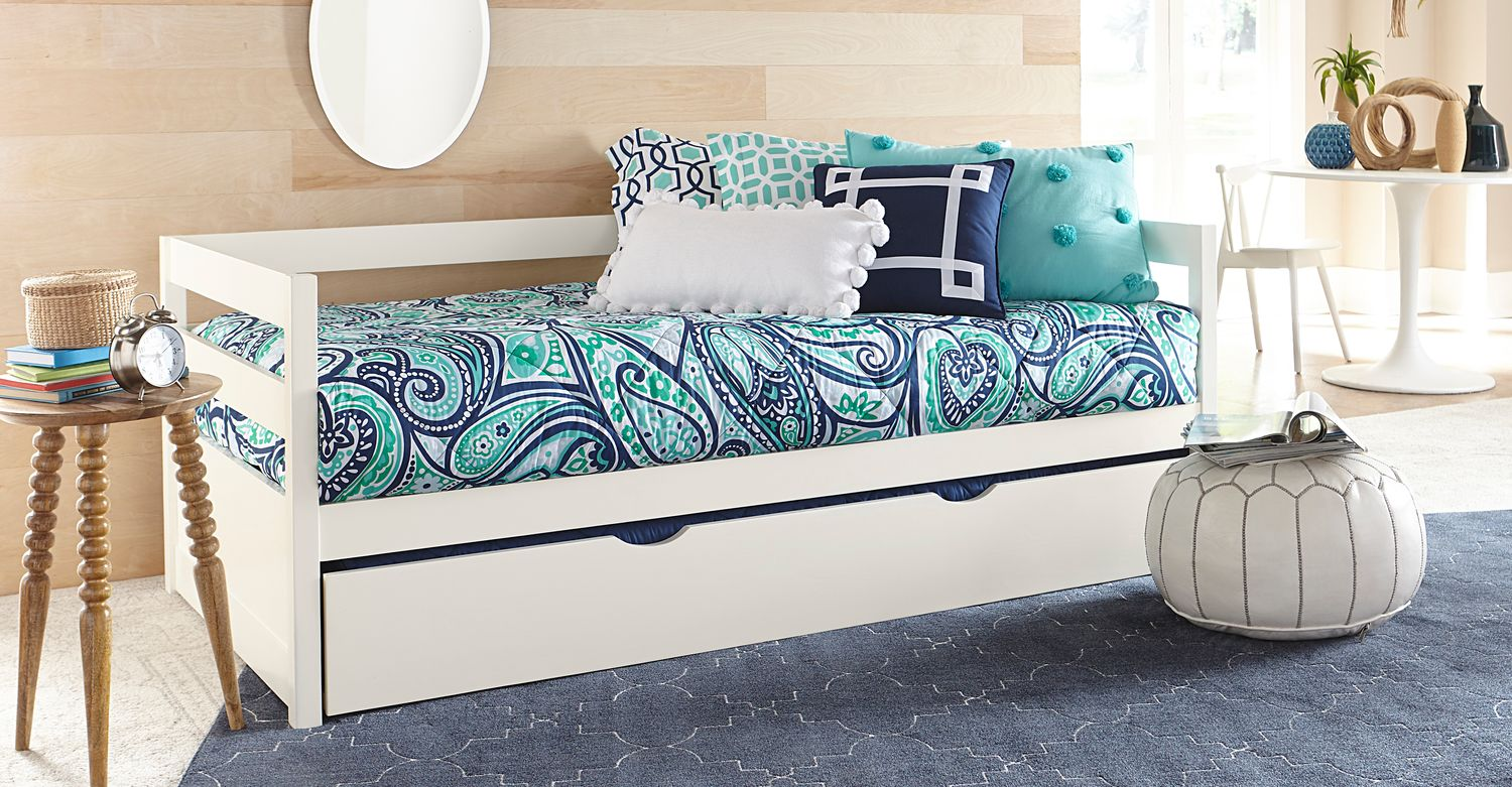 hudson twin daybed with trundle white