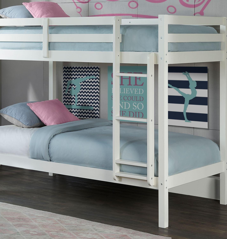 hudson twin bunk bed white
