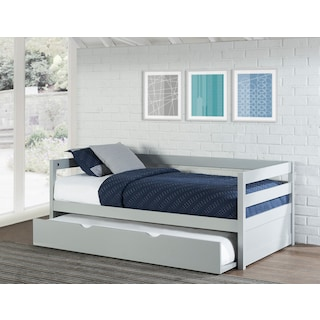 Hudson Twin Daybed With Trundle Gray