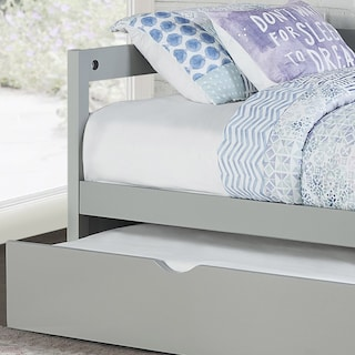 Hudson Twin Daybed with Twin Trundle - Gray
