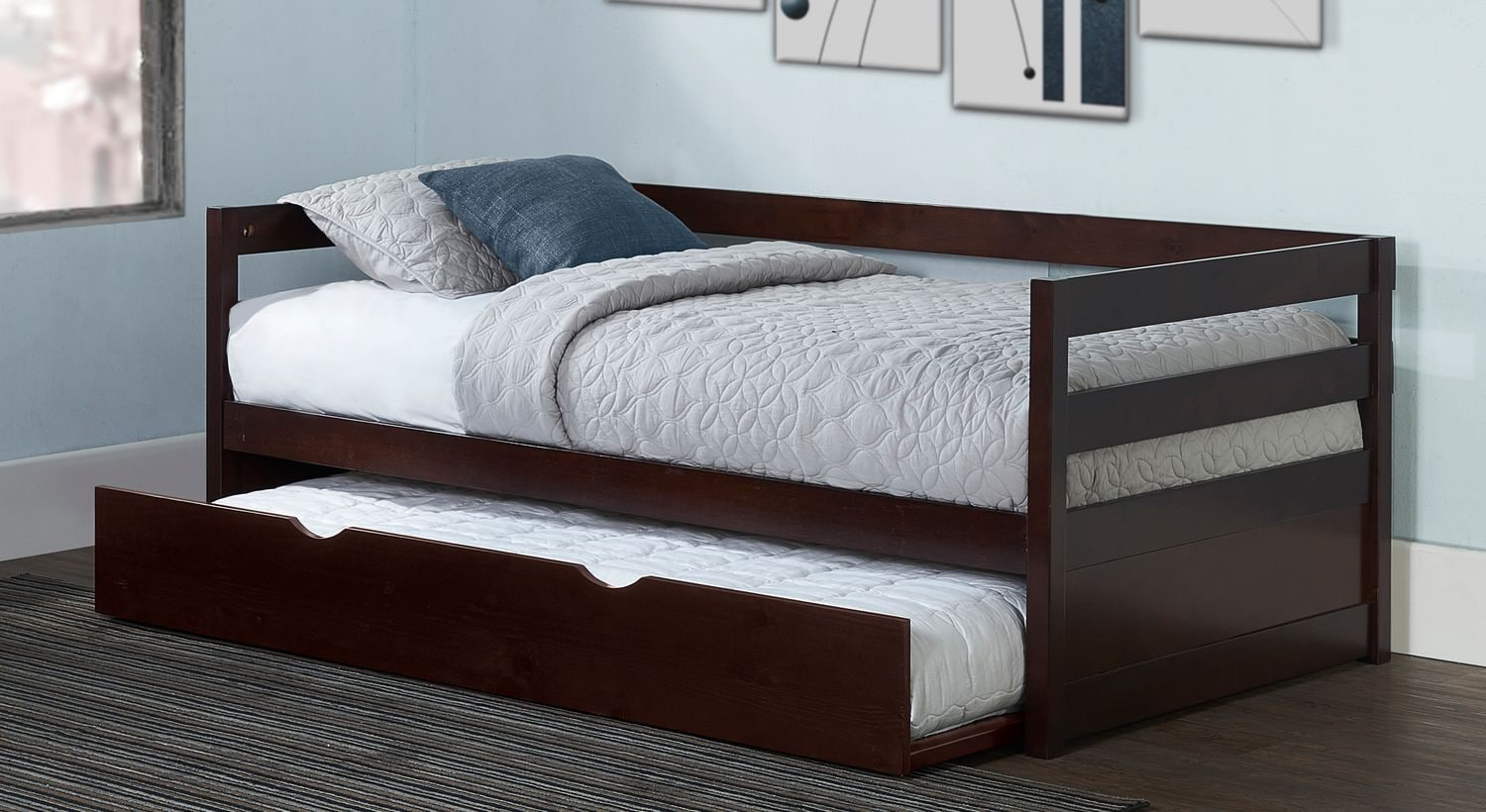 Hudson Twin Daybed With Trundle   Chocolate
