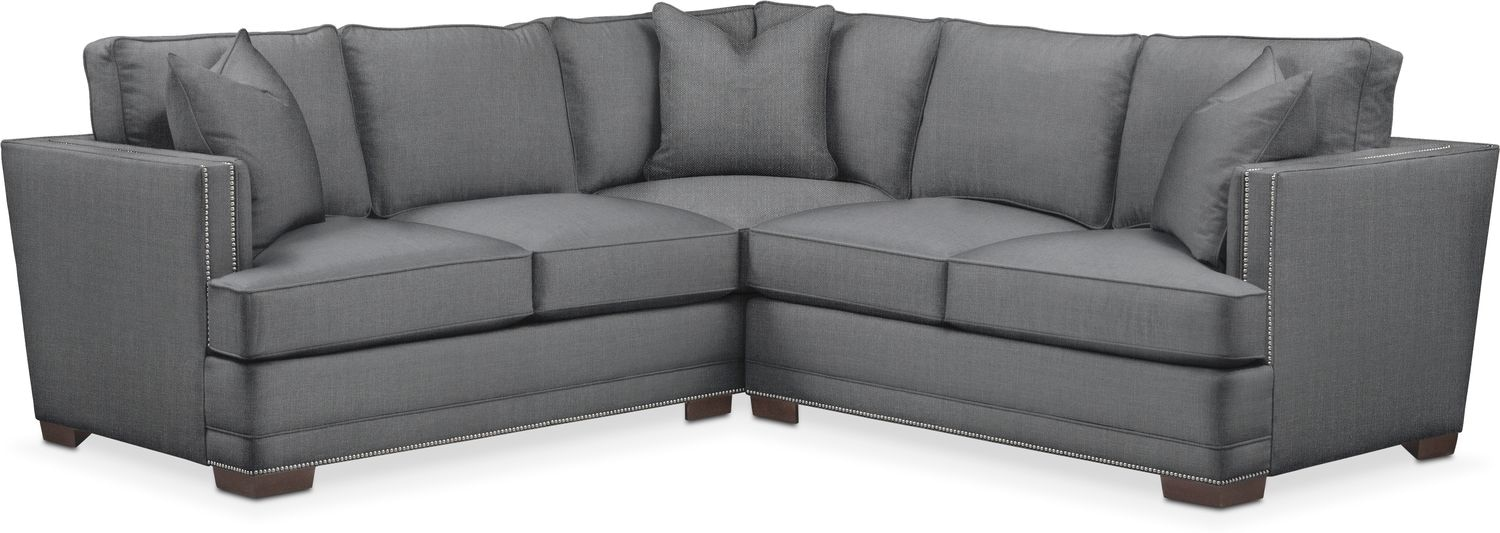 Living Room Furniture - Arden 2-Piece Small Sectional