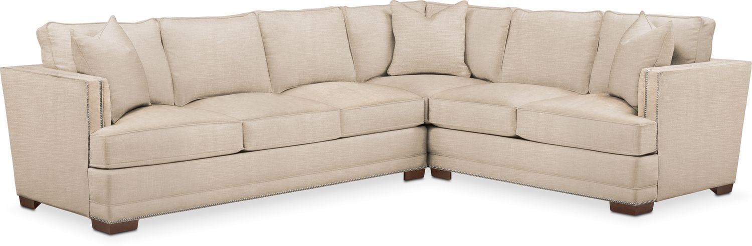 Arden 2 Pc. Sectional with Left Arm Facing Sofa- Comfort in Dudley Buff  sc 1 st  American Signature Furniture : american signature furniture sectionals - Sectionals, Sofas & Couches
