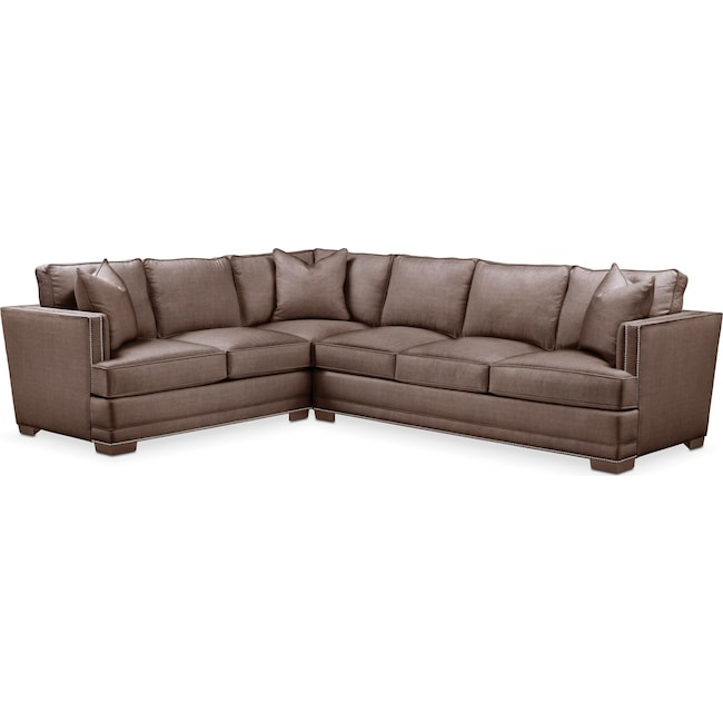 Living Room Furniture - Arden 2-Piece Large Sectional