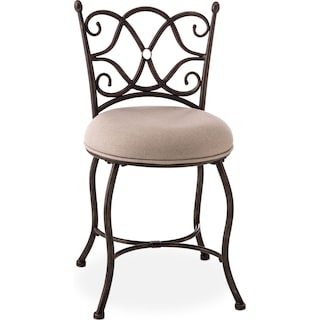 Brandy Vanity Stool - Gray