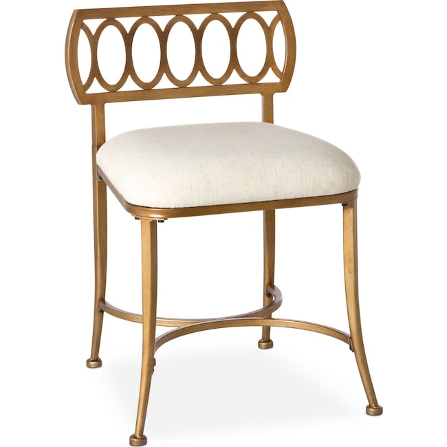 Kids Furniture - Jefferson Vanity Stool - Gold