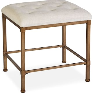 Esther Vanity Stool - Gold