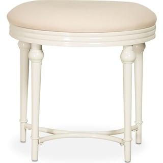 Jersey Vanity Stool - White