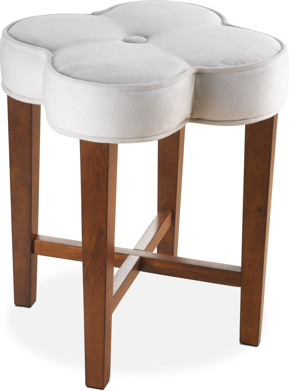 Quad Vanity Stool   White