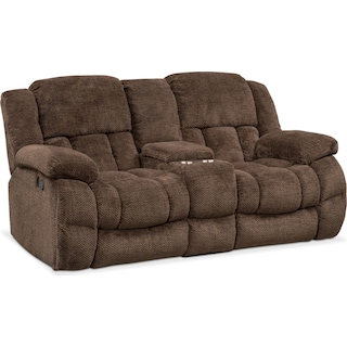 Turbo Reclining Loveseat with Console