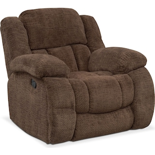Turbo Glider Recliner - Chocolate
