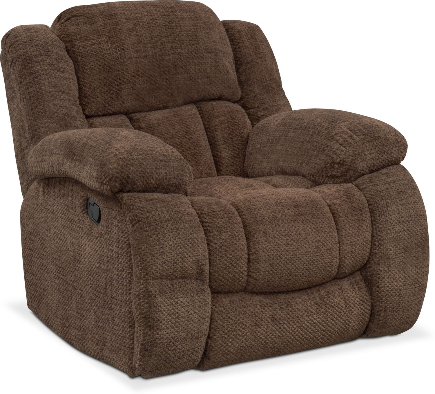 Living Room Furniture   Turbo Glider Recliner   Chocolate