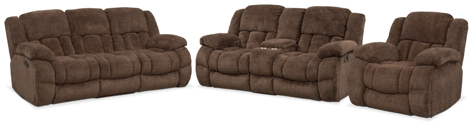 Living Room Furniture - Turbo Manual Reclining Sofa, Loveseat and Glider Recliner