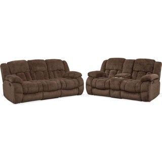 Turbo Reclining Sofa and Reclining Loveseat Set