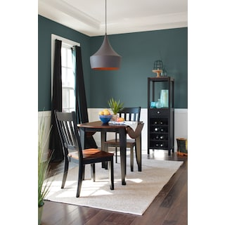 Nantucket Drop-Leaf Table and 2 Slat-Back Chairs