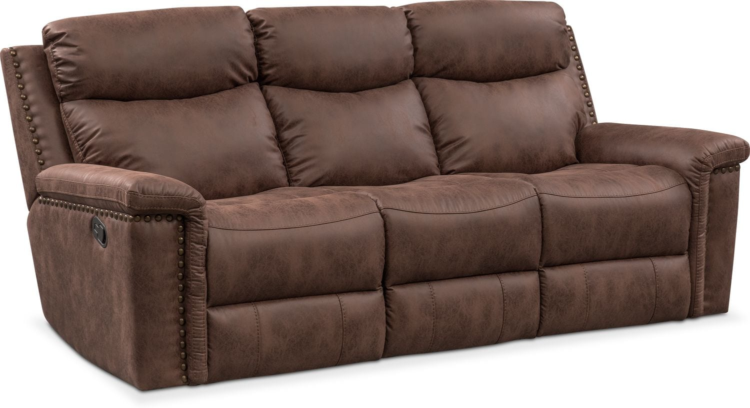 Living Room Furniture - Montana Manual Reclining Sofa