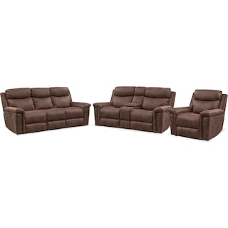 Montana Dual-Power Reclining Sofa, Loveseat and Recliner