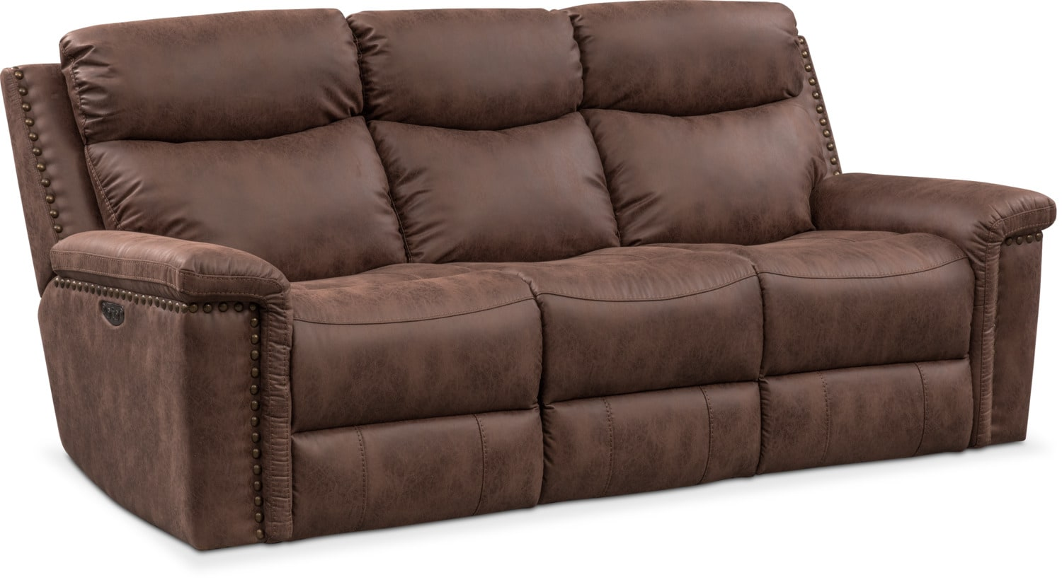 Living Room Furniture - Montana Dual Power Reclining Sofa