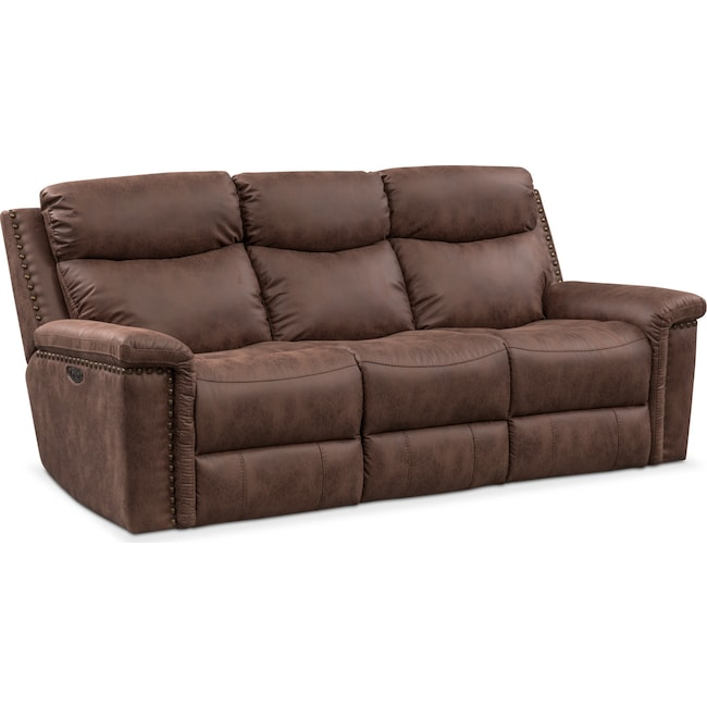 Living Room Furniture Montana Dual Reclining Sofa