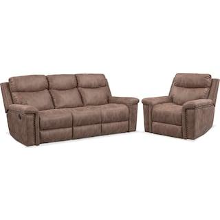 Montana Manual Reclining Sofa and Recliner Set