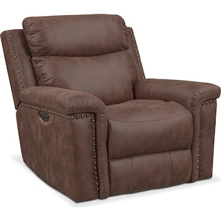 Montana Power Recliner - Brown
