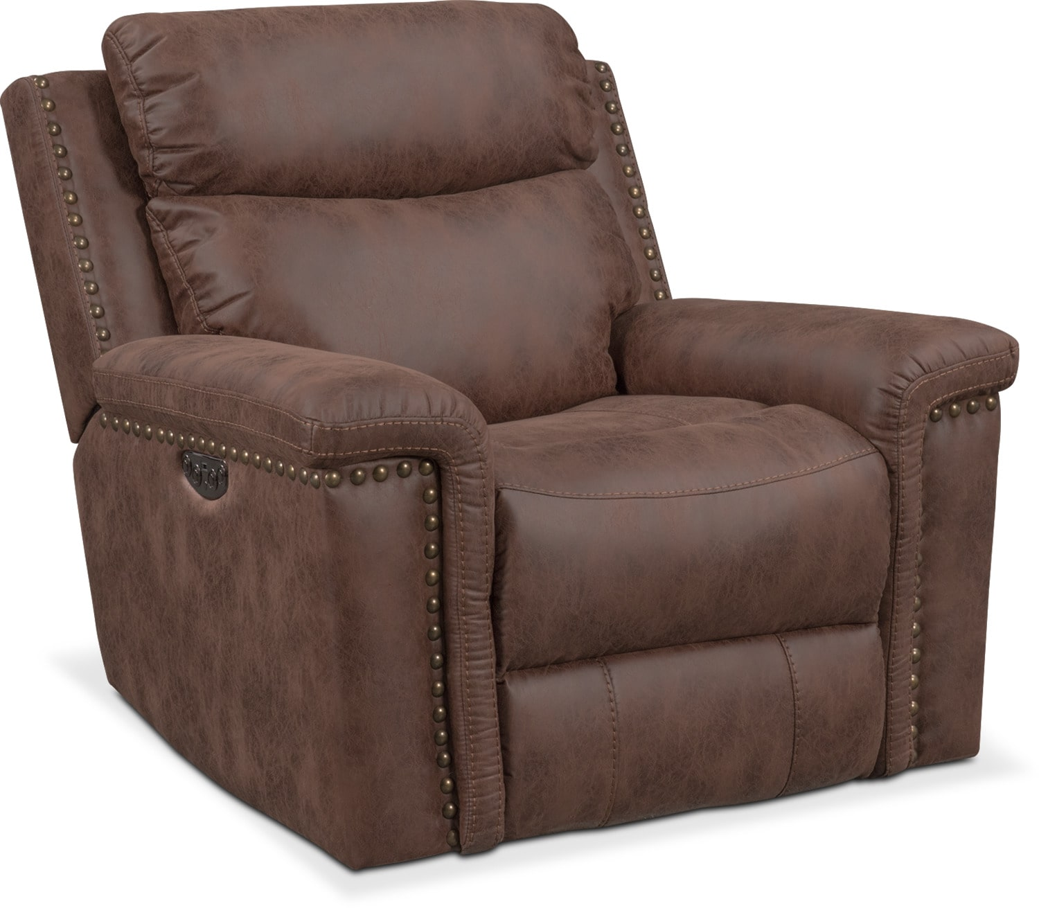 Exceptional Montana Power Recliner   Brown