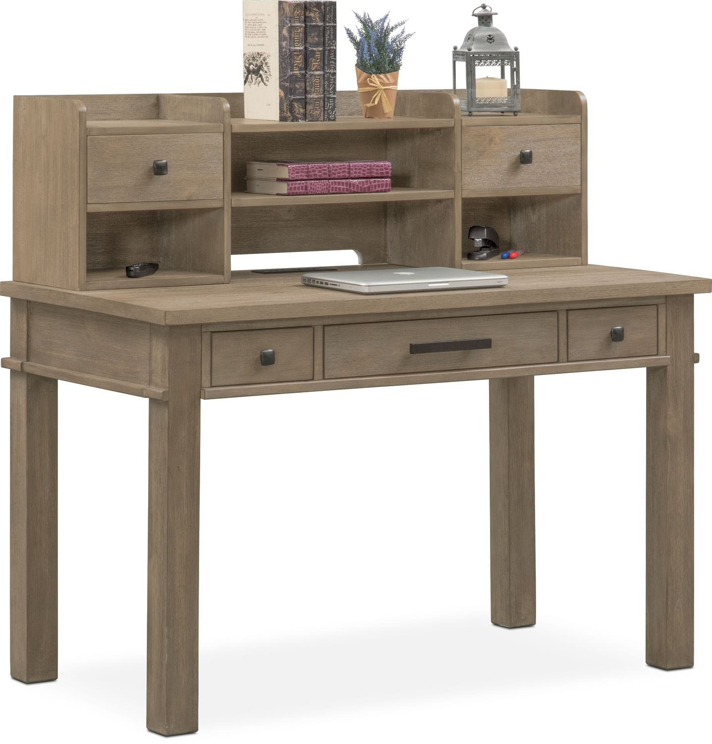 Kids Furniture Tribeca Youth Desk And Hutch Gray